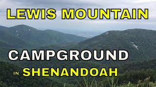 LEWIS MOUNTAIN CAMPGROUND IN SHENANDOAH