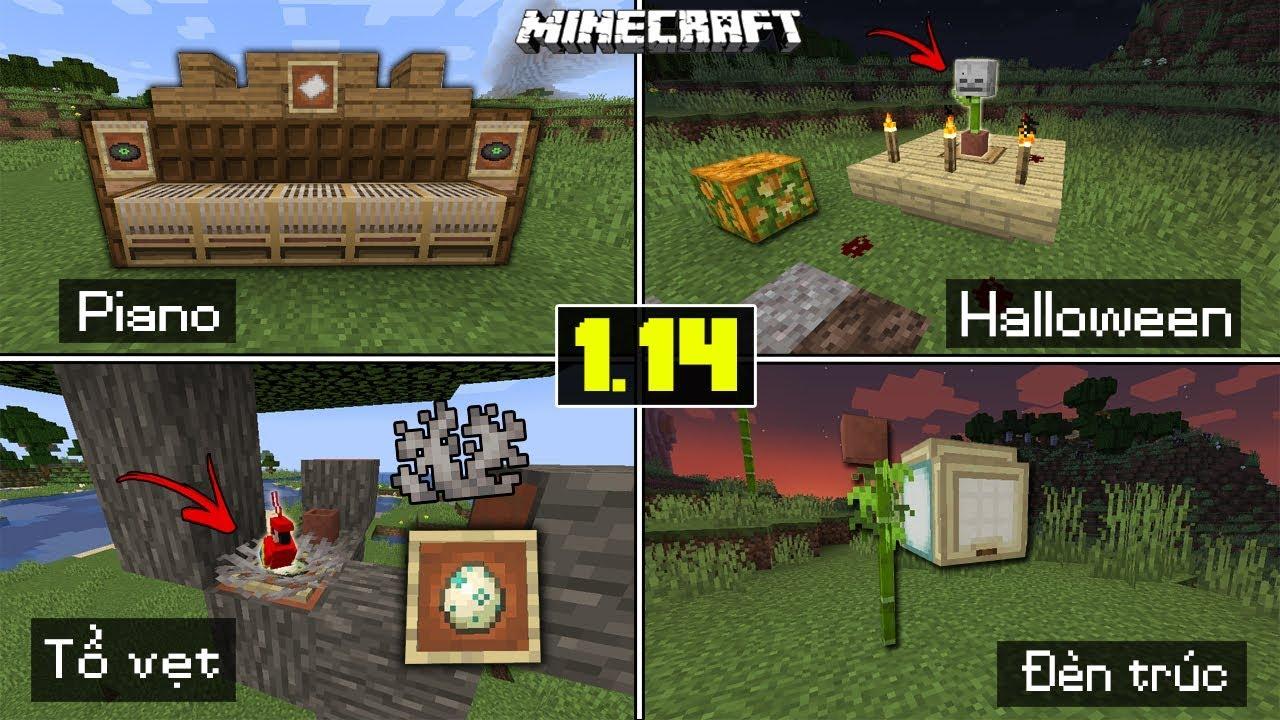 Top 5 Cách Trang Trí Thú Vị Trong Minecraft 1.14 (Top 5 exciting, funny minecraft 1.14) – (Phần 1)