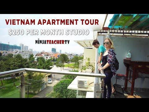 Vietnam Apartment Tour: $250 District 7 Studio (Ho Chi Minh City)