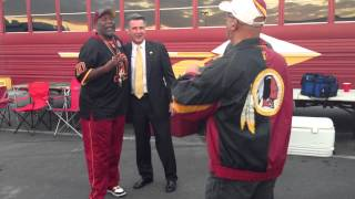 Redskins GM Bruce Allen Greets Tailgaters vs. Giants: 12/03/12