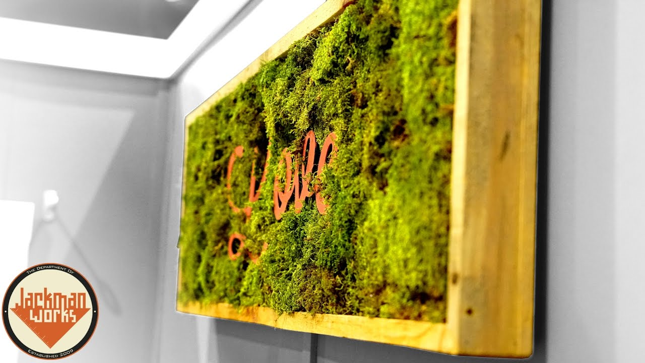 Making Inspirational Living Wall Frames - YouTube