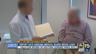 Report says Arizona medical board broke laws