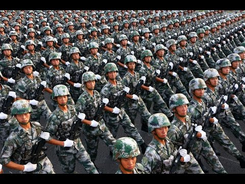 Troops participating in China's Victory Day Parade