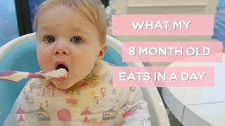 WHAT MY 8 MONTH BABY EATS IN A DAY & ROUTINE