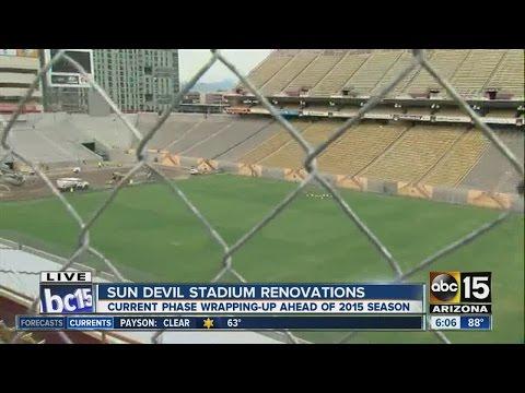 First look at Sun Devil Stadium renovations