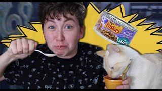 EATING CAT FOOD WITH CATS