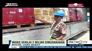 Video Bea Cukai Musnahkan Miras Ilegal Senilai Rp2 Miliar download MP3, 3GP, MP4, WEBM, AVI, FLV Juni 2018
