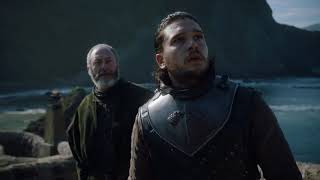 Rhaegal Flies Over Jon Snow   Game of Thrones Season 7 Episode 6