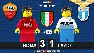 Roma Lazio 3-1 • Derby Serie A 2018/19 (29/09/2018) All Goal Highlights Sintesi Lego Calcio Football