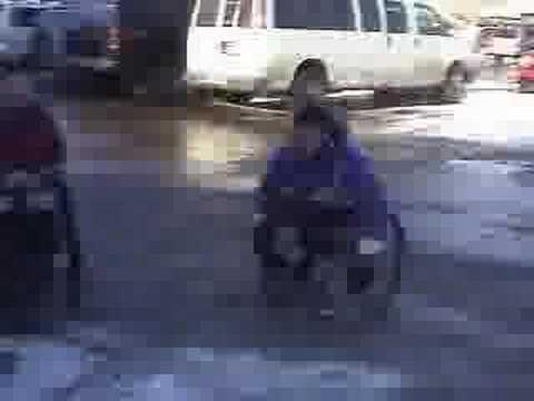 Double amputee wrecks wheelchair