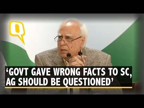 Kapil Sibal on Rafale: AG Should Be Called Before PAC & Questioned | The Quint