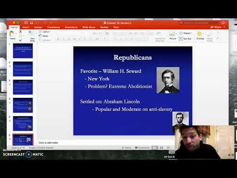 Election of 1860 Emmaus High School