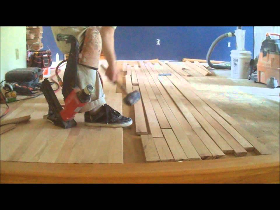 hardwood floor installation instructions video: nail down - youtube