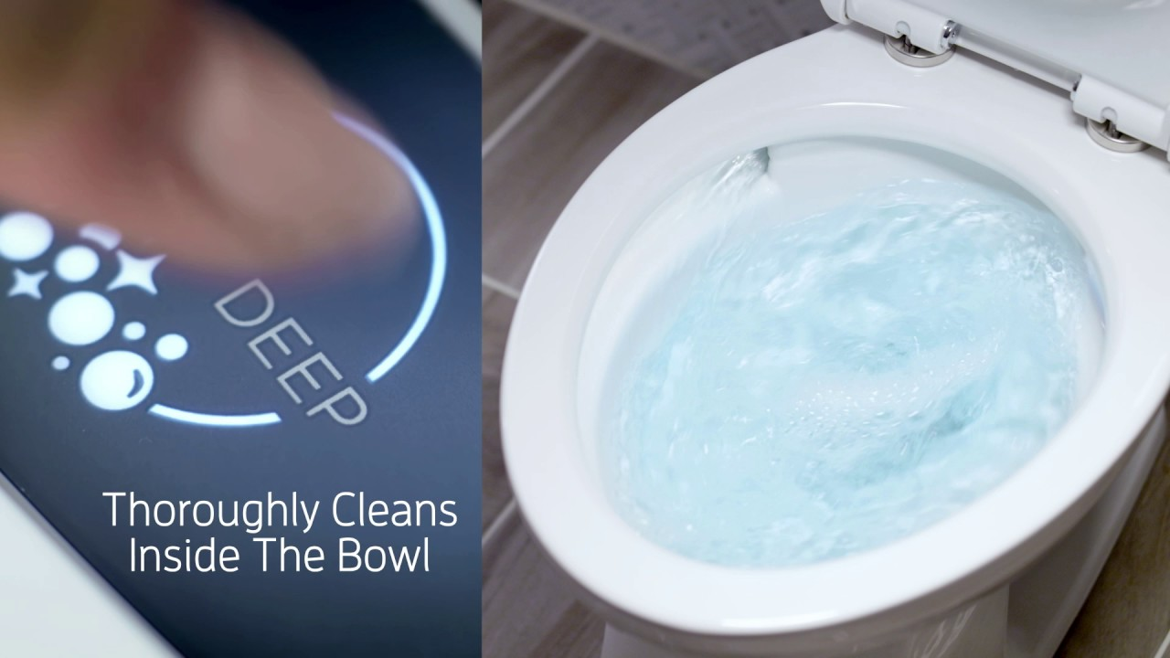 American Standard ActiClean™ Self-Cleaning Toilet - YouTube