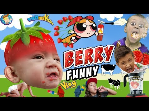 BERRY FUNNY VLOG!! FVKitchen Family Fun! STRAWBERRY PICKING HAUL RECIPES TIME! HAHA