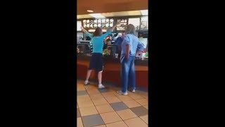 Angry lady public freakout... and then this happened...