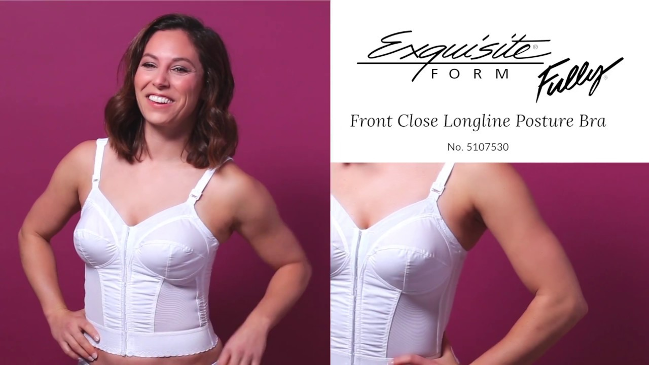 fc8996258 Exquisite Form Front Close Longline Posture Bra - YouTube