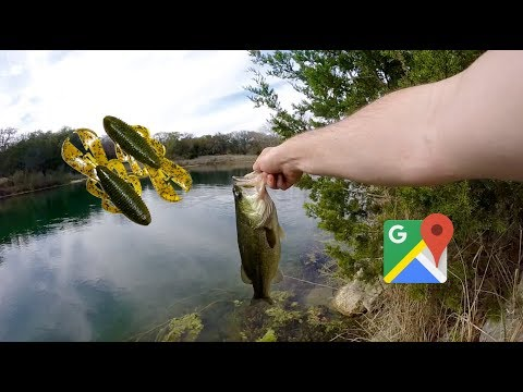 Google Maps Challenge (Ultra Clear Pond Bass On Googan Baits Bandito Bug)