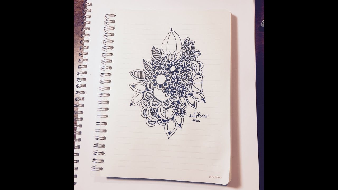 Overlapping Flowers Slow Doodling YouTube