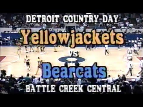 Chris Webber High School Basketball 1991 Battle Creek Central vs Detroit Country Day FULL GAME