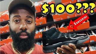 I FOUND CAP & GOWN AIR JORDAN 11's IN THE NIKE OUTLET FOR $100😱😱😱 STEAL!! NIKE OUTLET MALL VLOG🔥