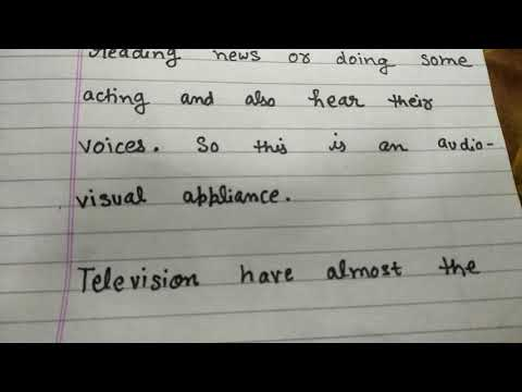 A very short and smart paragraph writing on television in English in educational channel by Ritashu