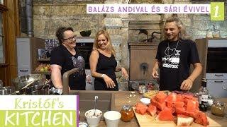 Gambar cover Kristóf's Kitchen in The Studios - vegán főzős talkshow - 1. rész - Balázs Andival és Sári Évivel