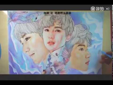 Hướng dẫn vẽ Vương Nguyên siêu đẹp