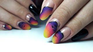 ГРАДИЕНТ из ЧЕТЫРЕХ ЦВЕТОВ ЯРКИЙ маникюр ТОП дизайн 2020 Дизайн ногтей гель лаком
