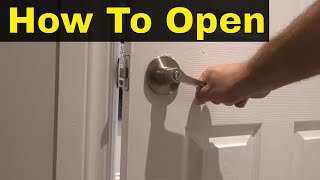 How To Open A Locked Bathroom Or Bedroom Door-Easy And Fast Method