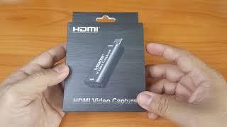 แกะกล่อง รีวิว USB 2.0 HDMI Video Capture ราคาไม่ถึง 200 บาท จาก Shopee
