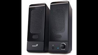 Распаковка акустической системы 2.0 Genius SP-U120 Black (31731057100)