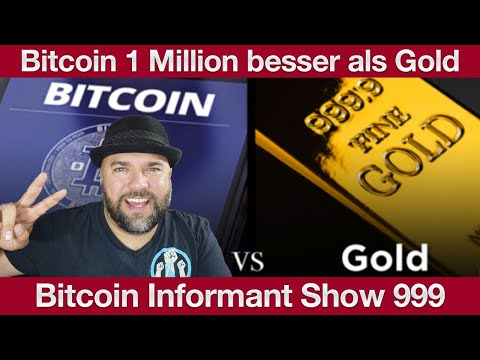 #999 Bitcoin 1 Million Mal besser als Gold, Tether Support Peter McCormack & Bitpanda und Raiffeisen