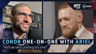 """""""We'll see who's pointing this time!"""" Conor McGregor one-on-one with Ariel Helwani ahead of UFC 264"""