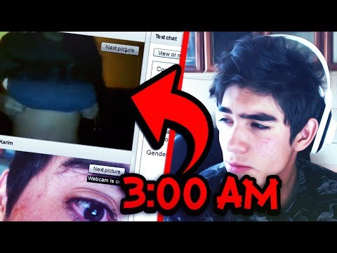 MIRA LO QUE PASA CUANDO ENTRAS A CHATROULETTE A LAS 3:00 AM