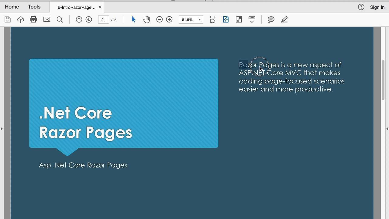 Download Progra Web - 6 IntroRazorPages 1 Intro