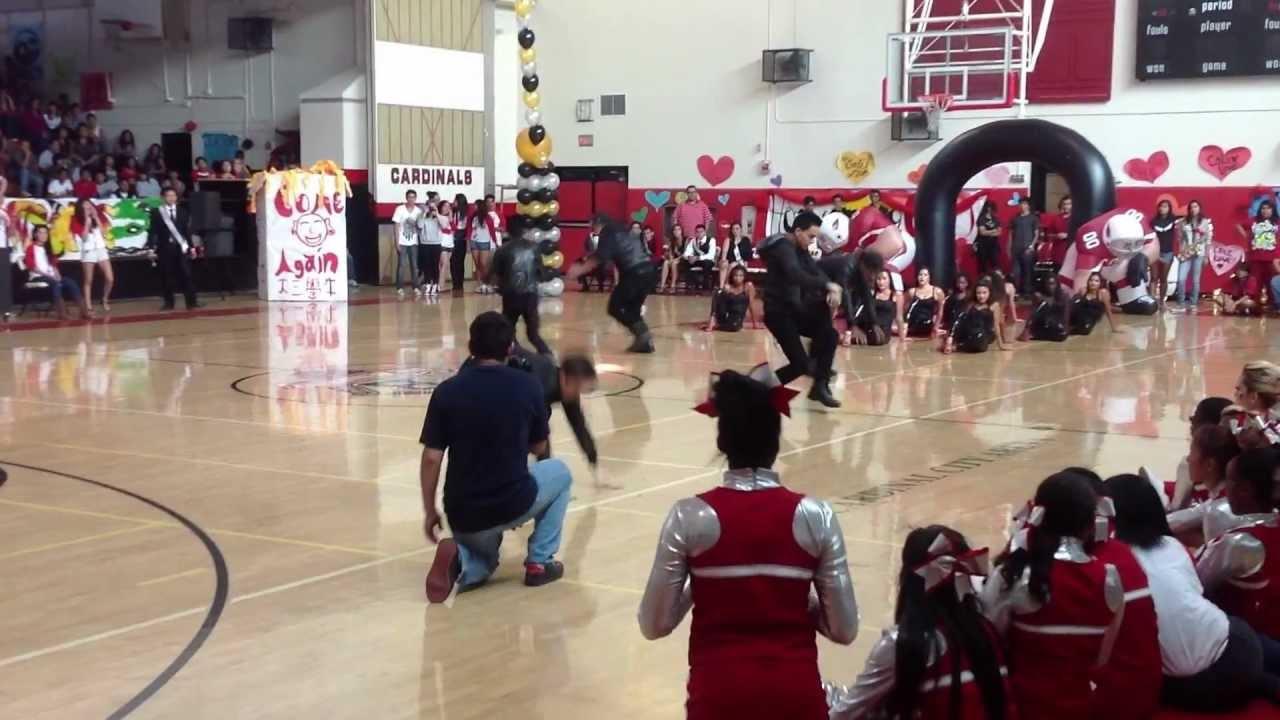 rancho dance performs at san bernardino high school rally