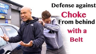 Defense against choke from behind with a belt thumbnail