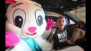 Super Siah & Easter Bunny Takes Dads Car To Deliver Eggs!!