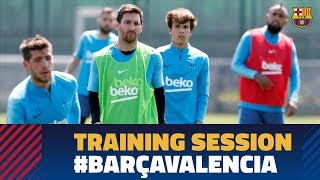 Back to work to prepare the Copa del Rey final against Valencia