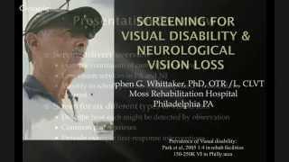 Screening for Visual Disability and Neurologic Vision Loss