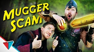 Pretending to be a quest giver - Mugger Scam