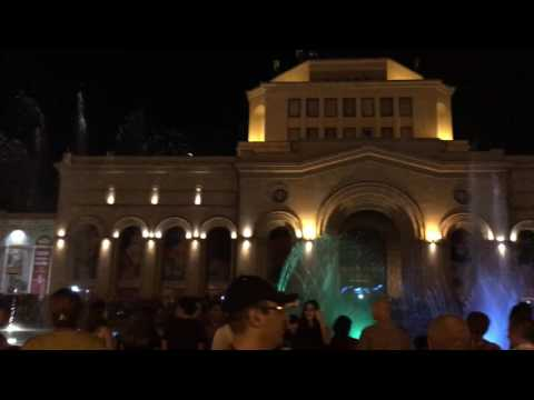 Dancing fountain at the Republic Square
