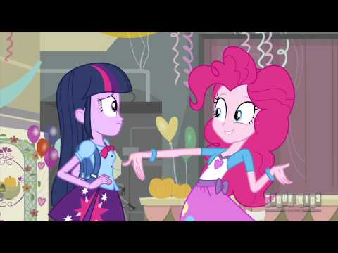 My Little Pony: Equestria Girls (4/7) Twilight Sparkle Meets Pinkie Pie in Human Form