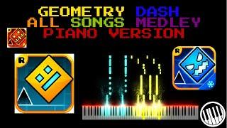 Geometry Dash PIANO MEDLEY - All Songs┃ PianoCrisp