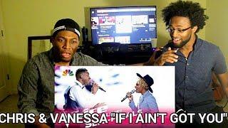 the voice 2017 chris blue vanessa ferguson semifinals if i ain t got you reaction