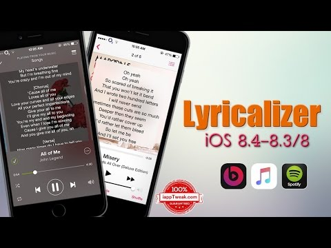 Lyricalizer : Automatically Fetches Song Lyrics In The Music apps - iOS 8.3/8.4 - iPhone/iPad/iPod