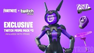 'NEW' TWITCH PRIME PACK #3 à Fortnite! (FREE SKINS - ITEMS PACK)