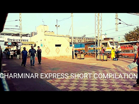 Chennai Hyderabad Charminar Express Short Journey Compilation