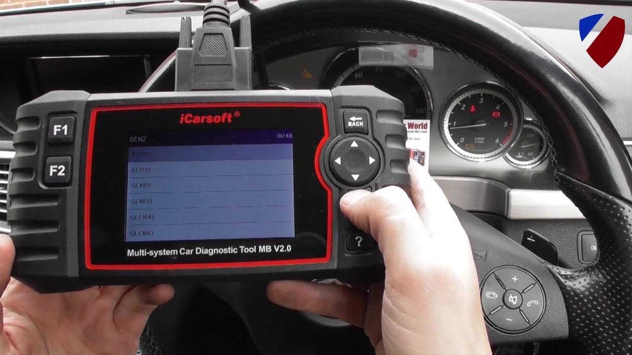 iCarsoft MB V2 0 Demonstration Mercedes ABS Sensor Diagnose & Reset